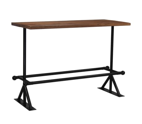 vidaXL Barový stůl masivní recyklované dřevo 150x70x107 cm tmavě hnědý[8/12]