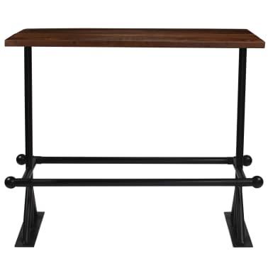 vidaXL Barový stůl masivní recyklované dřevo 150x70x107 cm tmavě hnědý[2/12]
