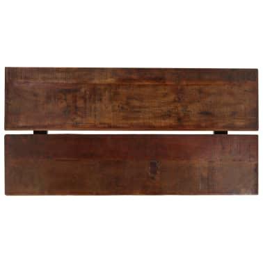 vidaXL Barový stůl masivní recyklované dřevo 150x70x107 cm tmavě hnědý[3/12]