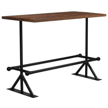 vidaXL Barový stůl masivní recyklované dřevo 150x70x107 cm tmavě hnědý[7/12]