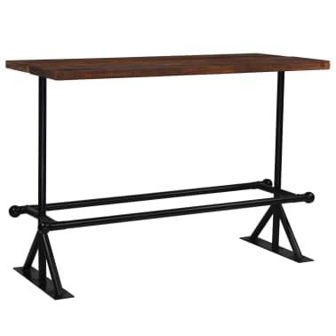 vidaXL Barový stůl masivní recyklované dřevo 150x70x107 cm tmavě hnědý[9/12]