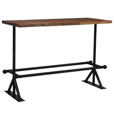 vidaXL Barový stůl masivní recyklované dřevo 150x70x107 cm tmavě hnědý[10/12]