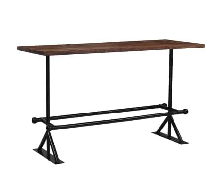 vidaXL Barový stůl masivní recyklované dřevo 180x70x107 cm tmavě hnědé