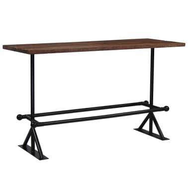 vidaXL Table de bar Bois massif de récupération Marron 180x70x107 cm[1/12]