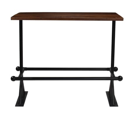 vidaXL Table de bar Bois massif de récupération Marron 180x70x107 cm[2/12]