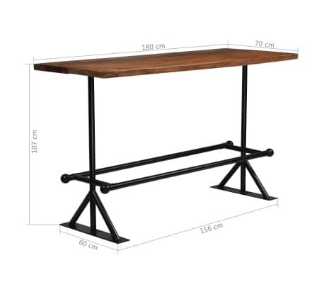 vidaXL Table de bar Bois massif de récupération Marron 180x70x107 cm[12/12]