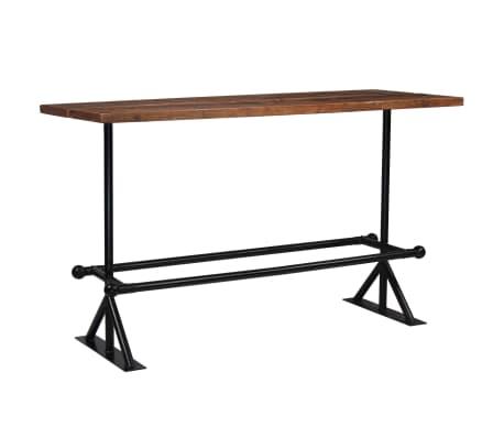 vidaXL Table de bar Bois massif de récupération Marron 180x70x107 cm[9/12]