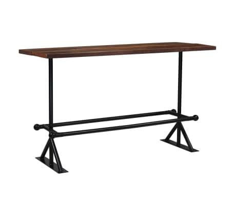 vidaXL Table de bar Bois massif de récupération Marron 180x70x107 cm[10/12]