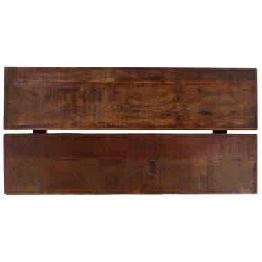 vidaXL Table de bar Bois massif de récupération Marron 180x70x107 cm[3/12]