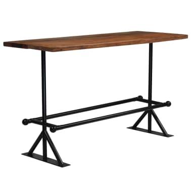 vidaXL Table de bar Bois massif de récupération Marron 180x70x107 cm[7/12]