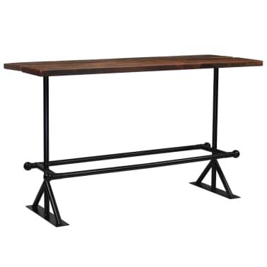 vidaXL Table de bar Bois massif de récupération Marron 180x70x107 cm[8/12]