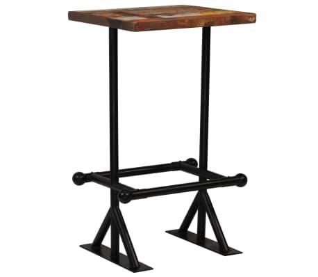 vidaXL Baro stalas, perdirbta mediena, įvairių spalvų, 60x60x107cm[1/12]