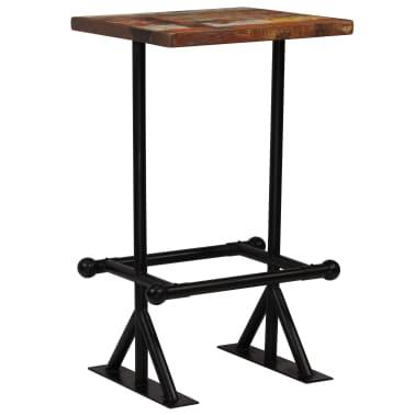 vidaXL Barska miza iz trdnega predelanega lesa 60x60x107 cm večbarvna[1/12]