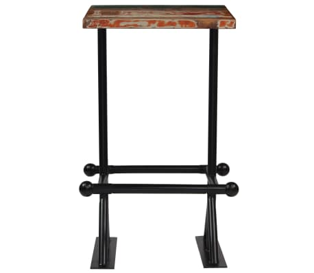vidaXL Barska miza iz trdnega predelanega lesa 60x60x107 cm večbarvna[2/12]