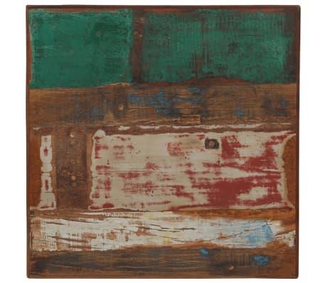 vidaXL Barska miza iz trdnega predelanega lesa 60x60x107 cm večbarvna[3/12]