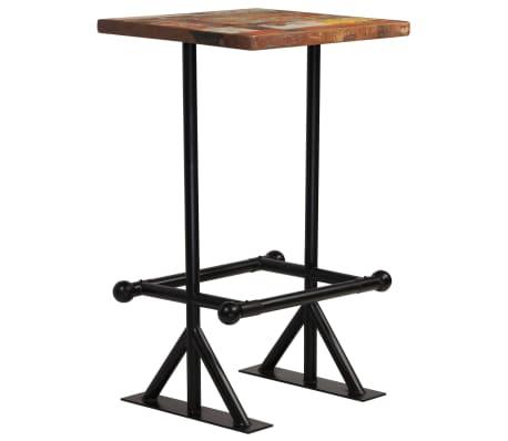 vidaXL Barska miza iz trdnega predelanega lesa 60x60x107 cm večbarvna[7/12]