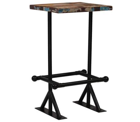 vidaXL Baro stalas, perdirbta mediena, įvairių spalvų, 60x60x107cm[8/12]