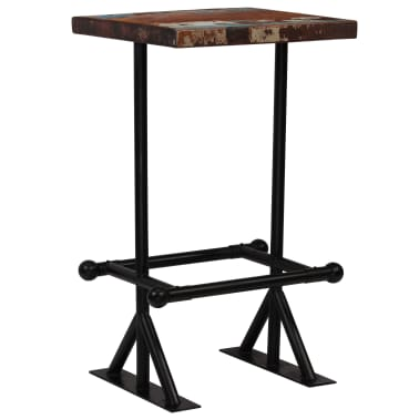 vidaXL Baro stalas, perdirbta mediena, įvairių spalvų, 60x60x107cm[11/12]