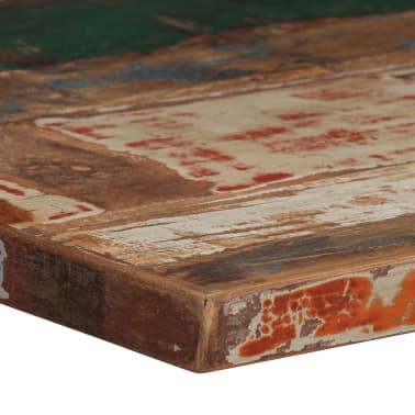 vidaXL Barska miza iz trdnega predelanega lesa 60x60x107 cm večbarvna[4/12]