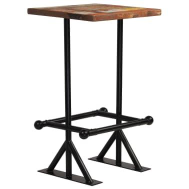 vidaXL Baro stalas, perdirbta mediena, įvairių spalvų, 60x60x107cm[7/12]