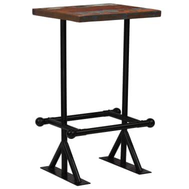 vidaXL Baro stalas, perdirbta mediena, įvairių spalvų, 60x60x107cm[9/12]