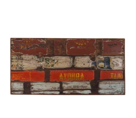 vidaXL Table de bar Bois massif recyclé Multicolore 120 x 60 x 107 cm[3/13]