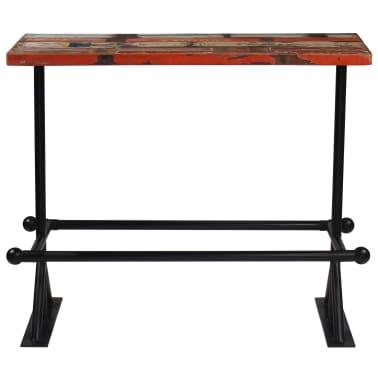 vidaXL Table de bar Bois massif recyclé Multicolore 120 x 60 x 107 cm[2/13]
