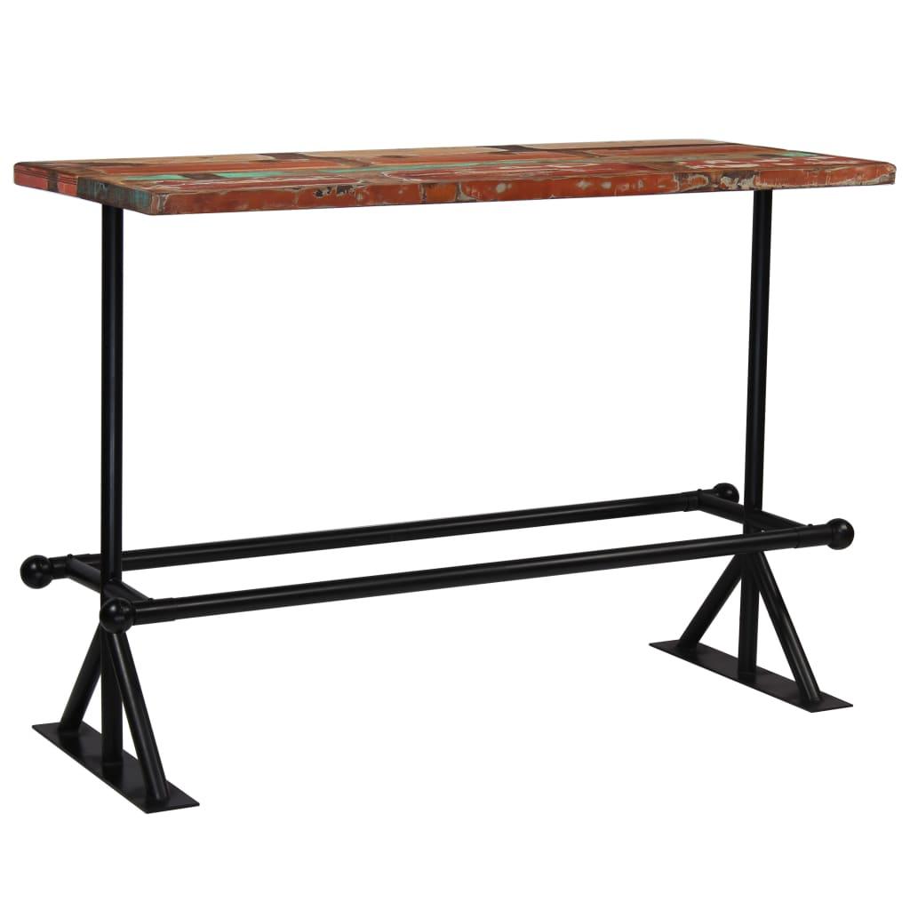 vidaXL Barový stůl masivní recyklované dřevo 150x70x107 cm vícebarevné