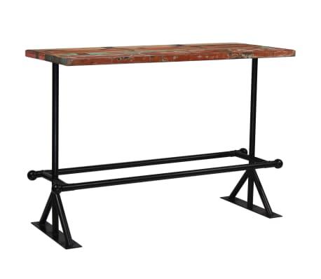 vidaXL Masă de bar, lemn masiv reciclat, multicolor, 150 x 70 x 107 cm