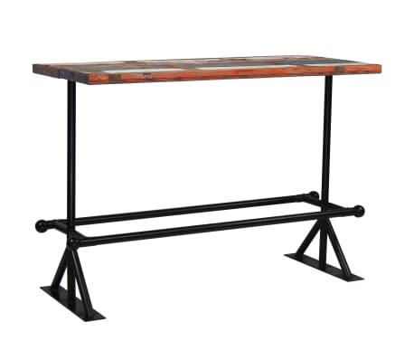 vidaXL Baro stalas, perdirbta mediena, įvairių spalvų, 150x70x107cm[8/10]