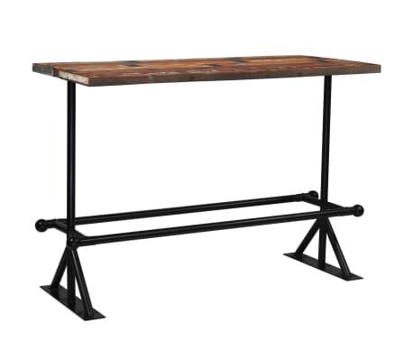 vidaXL Baro stalas, perdirbta mediena, įvairių spalvų, 150x70x107cm[9/10]