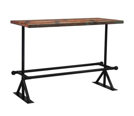 vidaXL Baro stalas, perdirbta mediena, įvairių spalvų, 150x70x107cm[10/10]