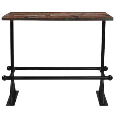 vidaXL Baro stalas, perdirbta mediena, įvairių spalvų, 150x70x107cm[2/10]
