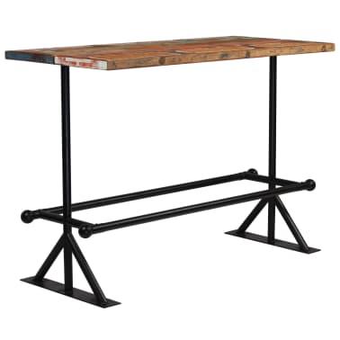 vidaXL Baro stalas, perdirbta mediena, įvairių spalvų, 150x70x107cm[6/10]