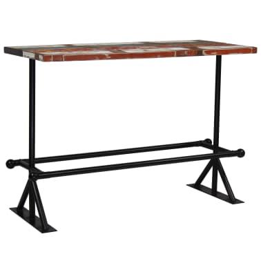 vidaXL Baro stalas, perdirbta mediena, įvairių spalvų, 150x70x107cm[7/10]