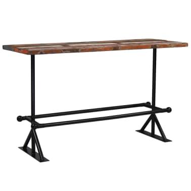 vidaXL Barový stůl masivní recyklované dřevo 180x70x107 cm vícebarevné [1/12]