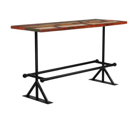 vidaXL Barový stůl masivní recyklované dřevo 180x70x107 cm vícebarevné [7/12]