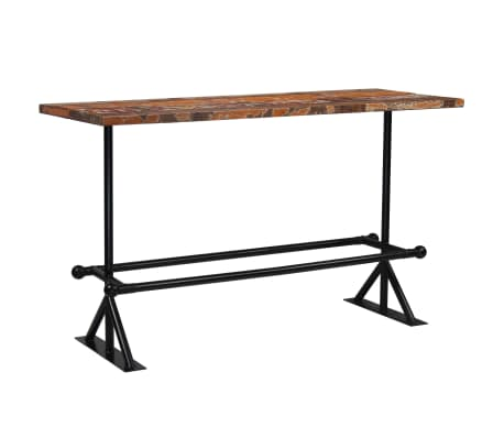 vidaXL Barový stůl masivní recyklované dřevo 180x70x107 cm vícebarevné [10/12]