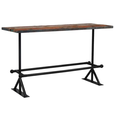 vidaXL Barový stůl masivní recyklované dřevo 180x70x107 cm vícebarevné [11/12]