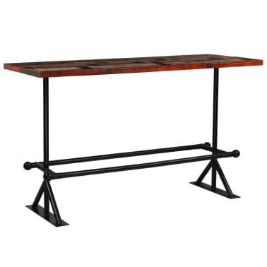 vidaXL Barový stůl masivní recyklované dřevo 180x70x107 cm vícebarevné [8/12]