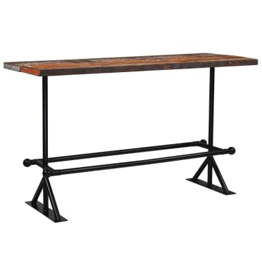 vidaXL Barový stůl masivní recyklované dřevo 180x70x107 cm vícebarevné [9/12]