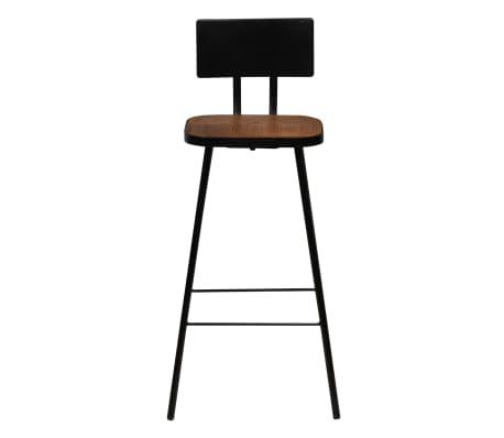 vidaXL Cadeiras de bar 2 pcs madeira recuperada maciça castanho escuro[2/14]