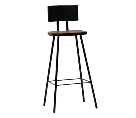 vidaXL Cadeiras de bar 2 pcs madeira recuperada maciça castanho escuro[11/14]