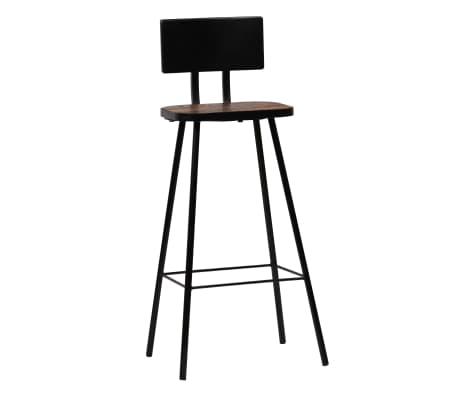 vidaXL Cadeiras de bar 2 pcs madeira recuperada maciça castanho escuro[12/14]