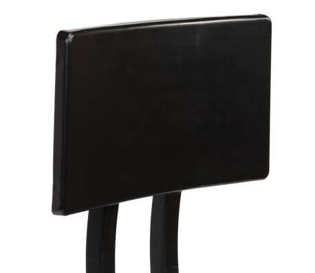 vidaXL Cadeiras de bar 2 pcs madeira recuperada maciça castanho escuro[7/14]