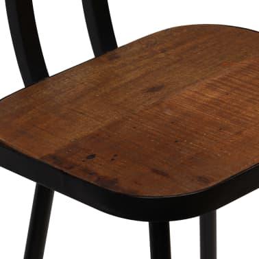 vidaXL Cadeiras de bar 2 pcs madeira recuperada maciça castanho escuro[5/14]