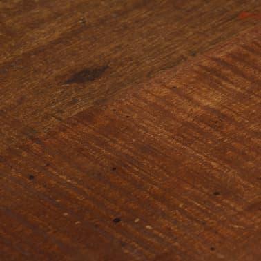vidaXL Cadeiras de bar 2 pcs madeira recuperada maciça castanho escuro[6/14]
