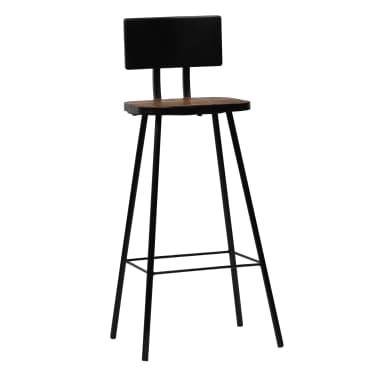 vidaXL Cadeiras de bar 2 pcs madeira recuperada maciça castanho escuro[9/14]