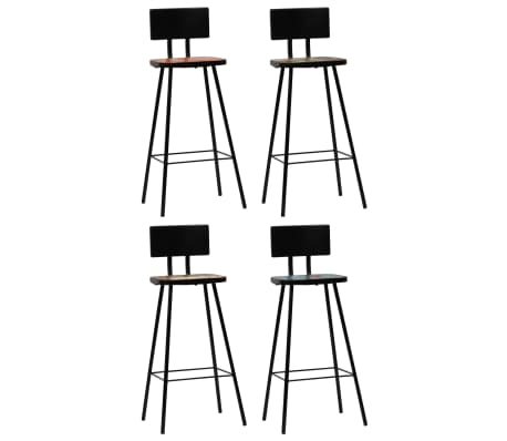 vidaXL Bar Chairs 4 pcs Solid Reclaimed Wood