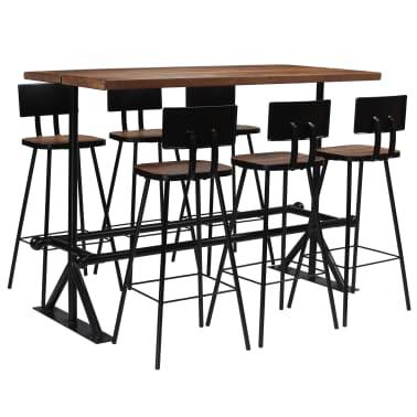 vidaXL Baro baldų komplektas, 7d., masyvi perdirbta mediena[1/21]